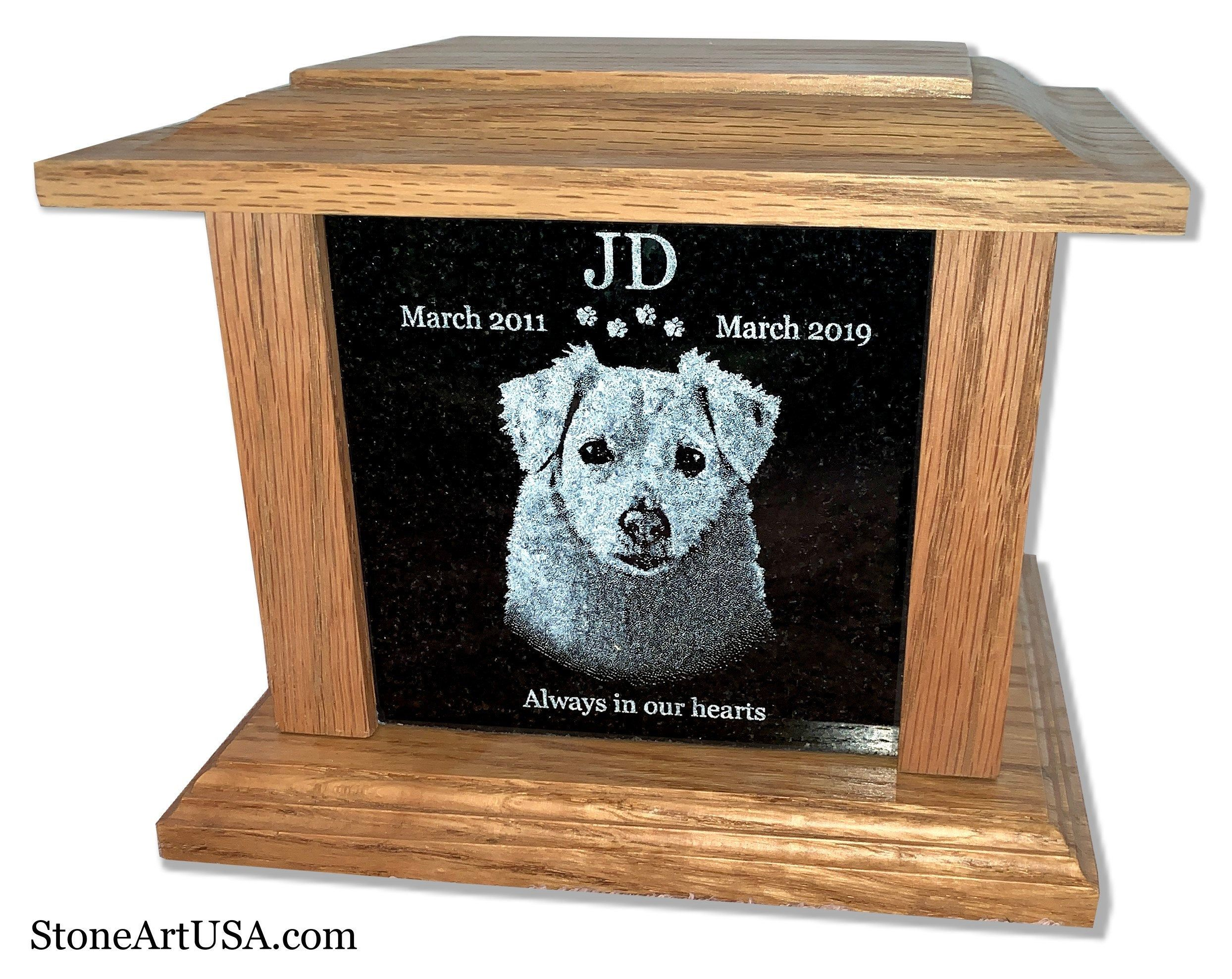 Cremation Memorial Container Box For Dog Cat All Pets Custom