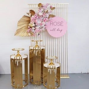 4pcs/lot Shiny Gold-Plated Wedding Centerpiece Tab