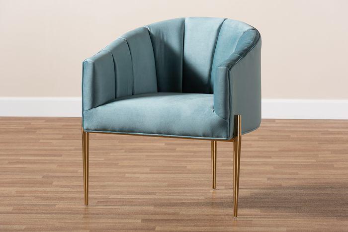 Best Baxton Studio Clarisse Glam Luxe Light Blue Velvet 400 x 300