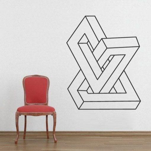 Geometric Infinite Form Decal Shape Sticker For Housewares Tape Wall Art Tape Art Geometric Wall Art
