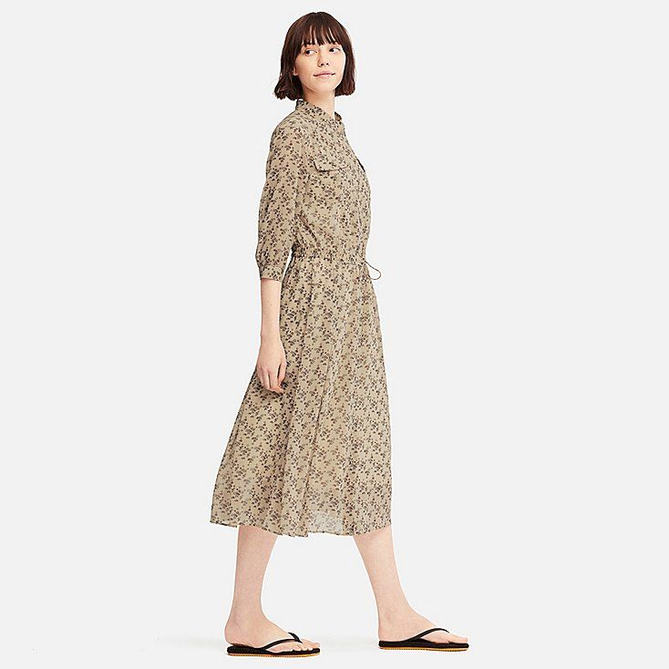 fcf6a5163ed WOMEN Tomas Maier CHIFFON PRINTED LONG SLEEVE DRESS