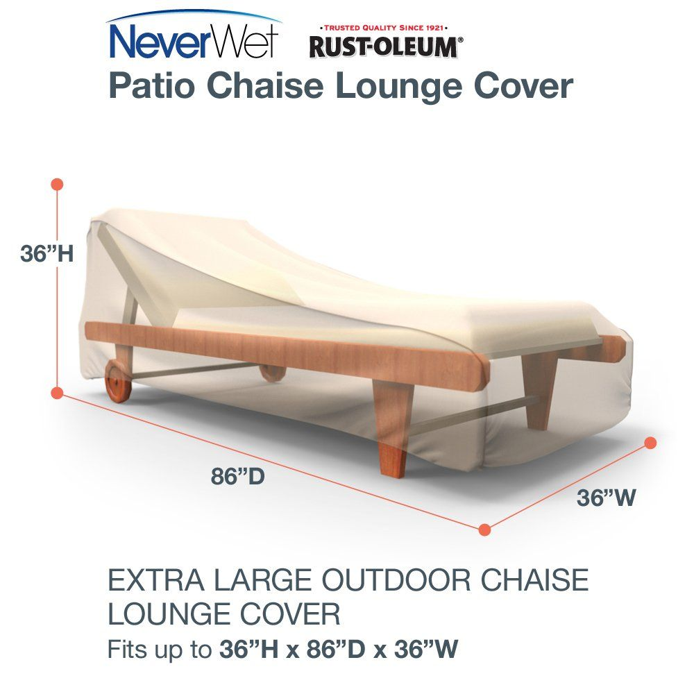 RustOleum NeverWet Patio Chaise Lounge Cover Extra Large ...