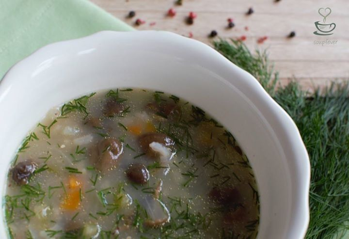 #spring #mushroom #soup with #rise