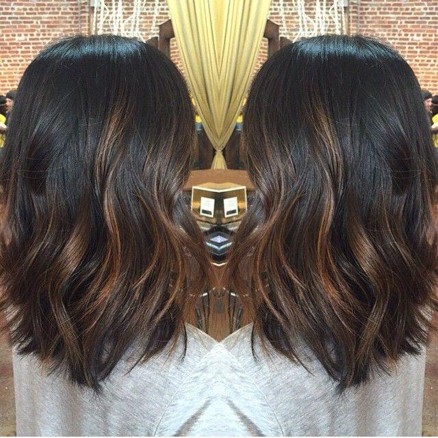 Balayage Hair Dark Brown Medium Length Google Search Black Hair Balayage Balayage Hair Dark Hair Lengths