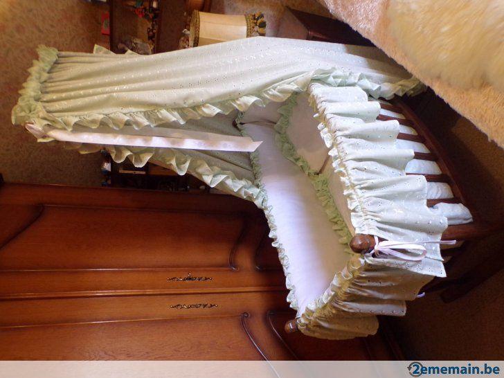 ancien berceau basculant en bois perroquet garnitures tb ber eaux col de cygne pinterest. Black Bedroom Furniture Sets. Home Design Ideas