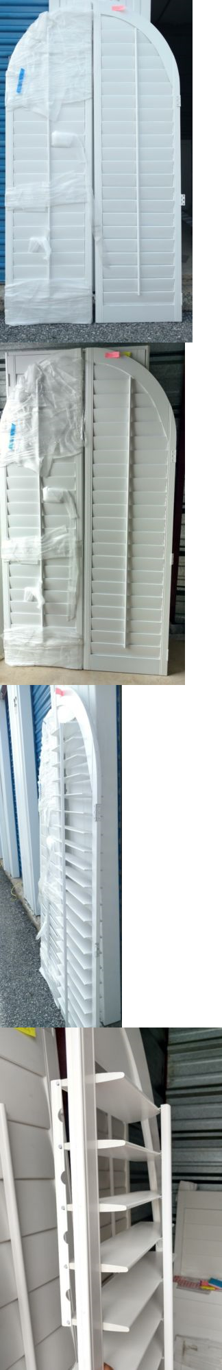 Shutters 66799: Interior Solid Wood Arched Plantation Shutters 4 1 2  Louvers White New