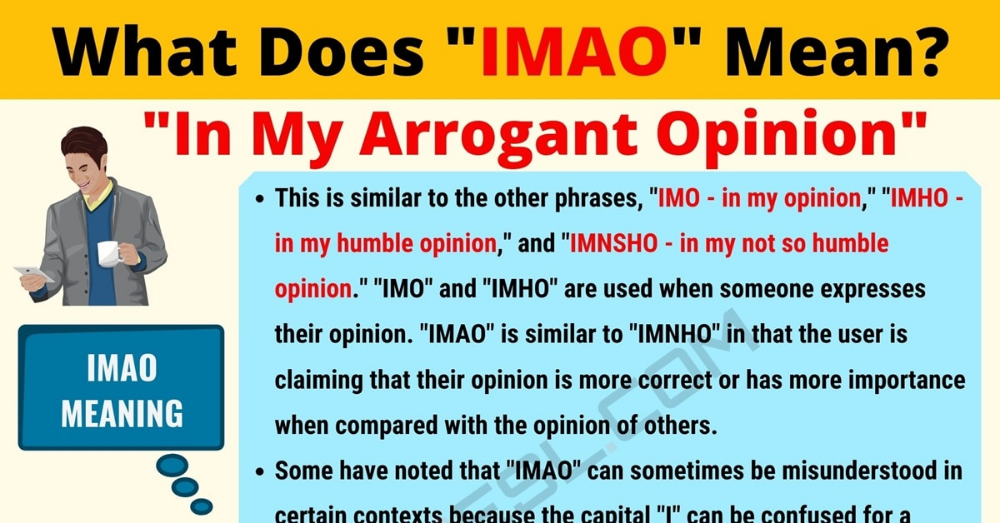 IMAO Meaning What Does IMAO Mean? Useful Text