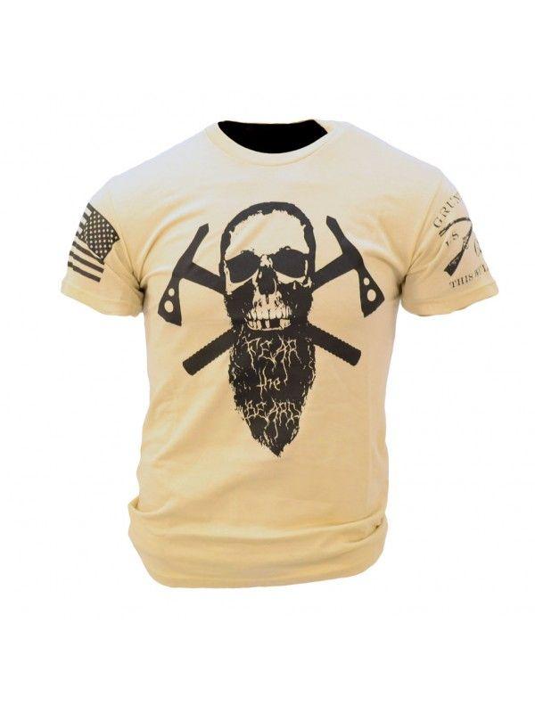 de66cb08 Grunt Style: Fear the Beard II Tan T Shirt, Awesome Beards, Graphic Tee