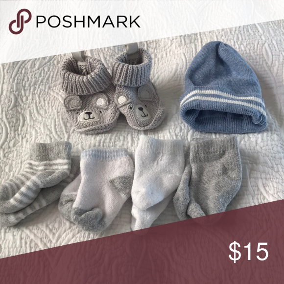 83e798122 Newborn boy lot Hey baby warm this winter! Great condition. The hat ...