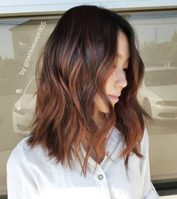 60 Hairstyles Featuring Dark Brown Hair With Highlights Lob Dark