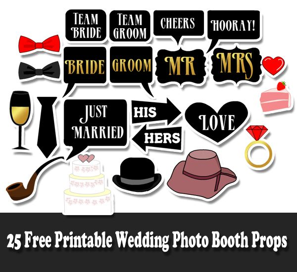 image regarding Free Printable Wedding Photo Booth Props identify Marriage ceremony Picture Booth Props Cost-free Listed here will come the Bride