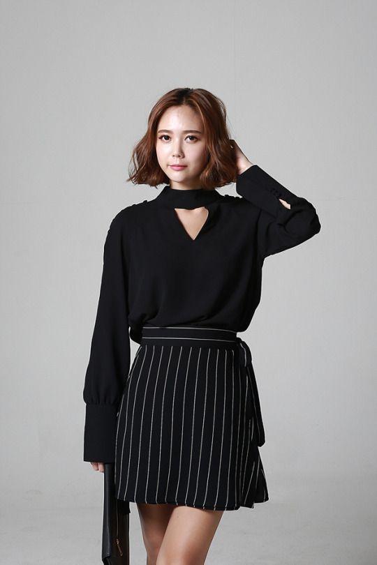 Wrap Striped Skirt