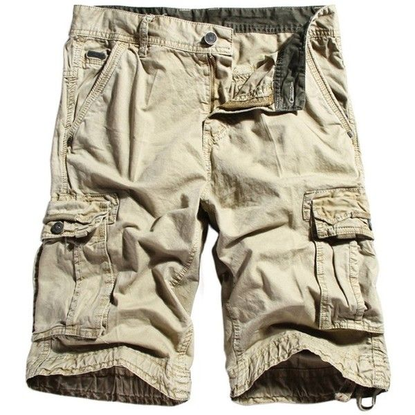 WenVen Men's Cotton Twill Cargo Shorts Outdoor Wear Lightweight ...