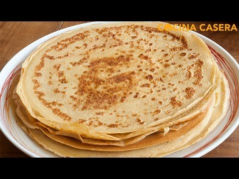 Crepes caseras - YouTube