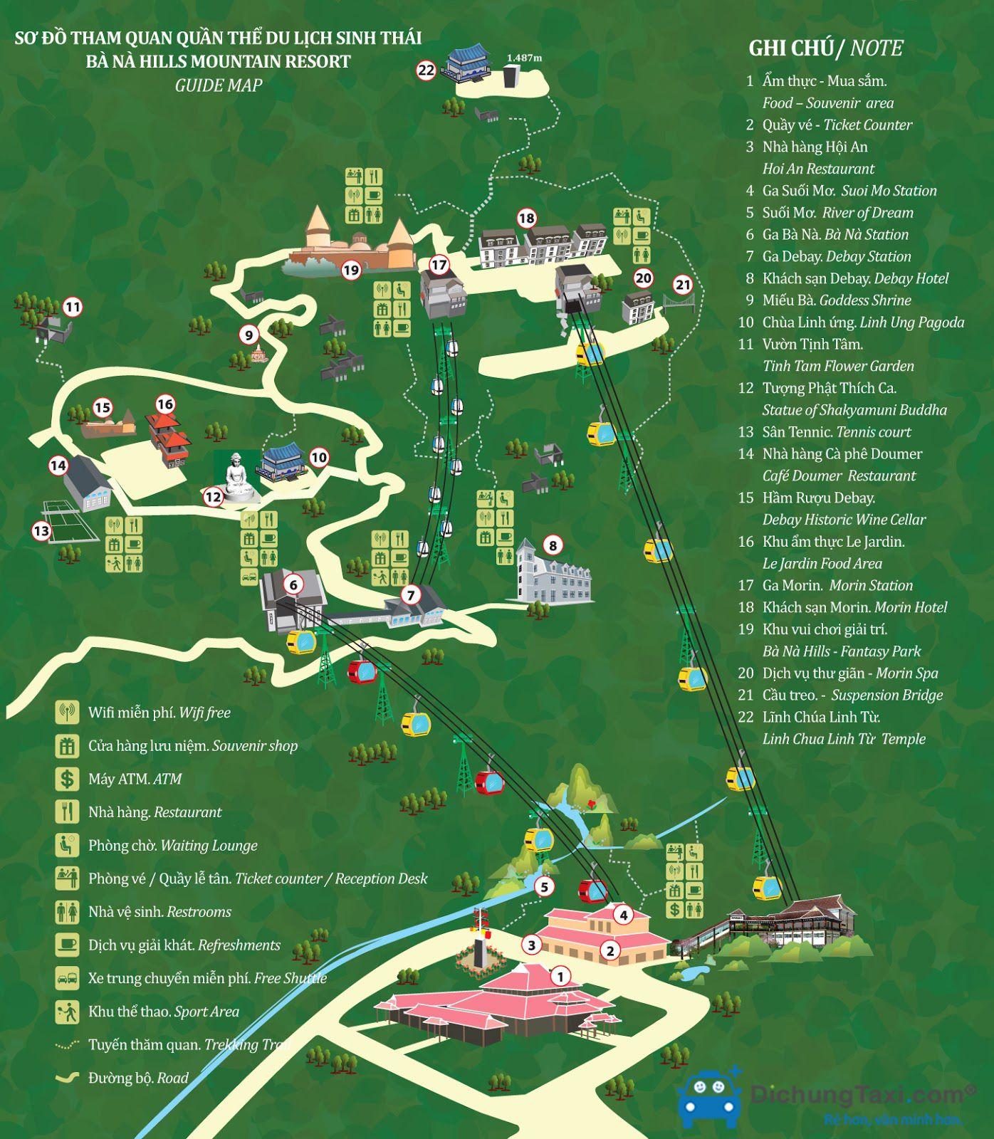 Bản đồ du lịch Bà Nà Hills - Đà Nẵng