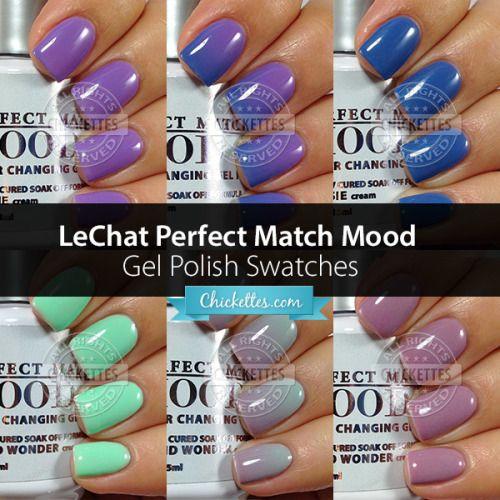 Lechat Perfect Match Mood Gel Polish In 2019 Mood Changing Nail Polish Mood Gel Polish Color