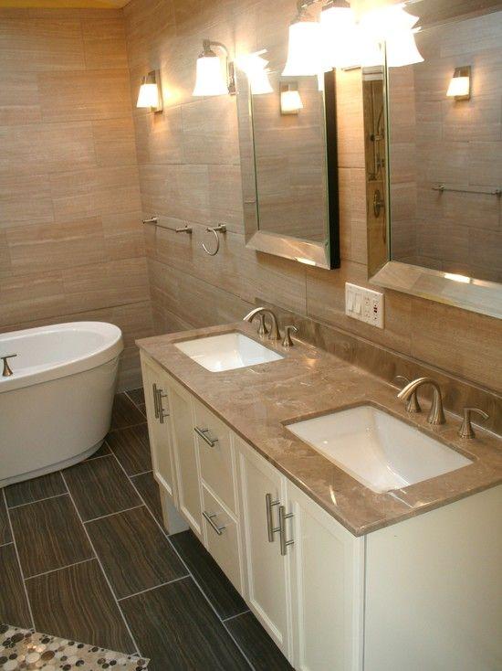 Interior Design Modern Bathroom Also White Wooden Vanity