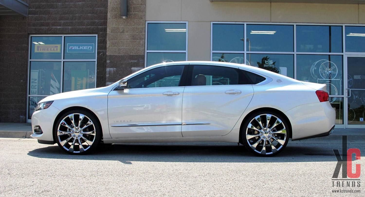 Silver 2017 Chevy Impala On 22 Rims Click For Full Image