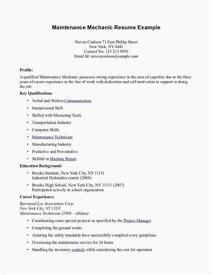 Inspiring Resume For Teenager With No Work Experience
