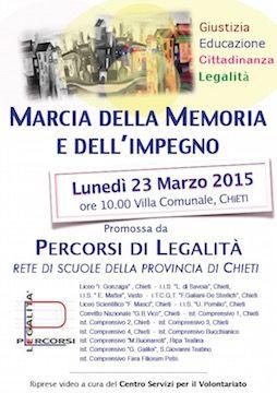 Marcia della Memoria e dell'Impegno: il 23 marzo a Chieti - Area Sociale