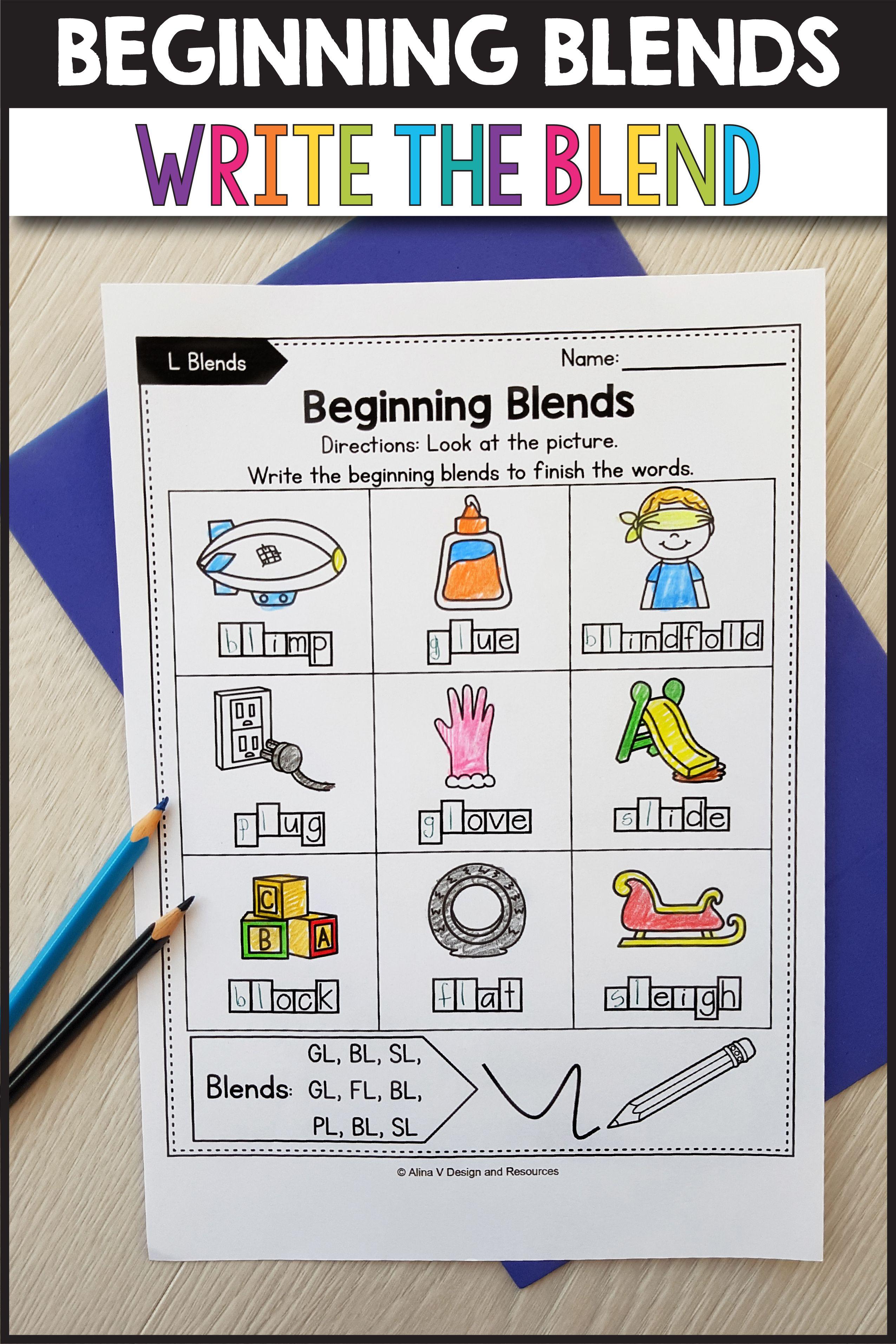 R Blends Worksheets L Blends Activities