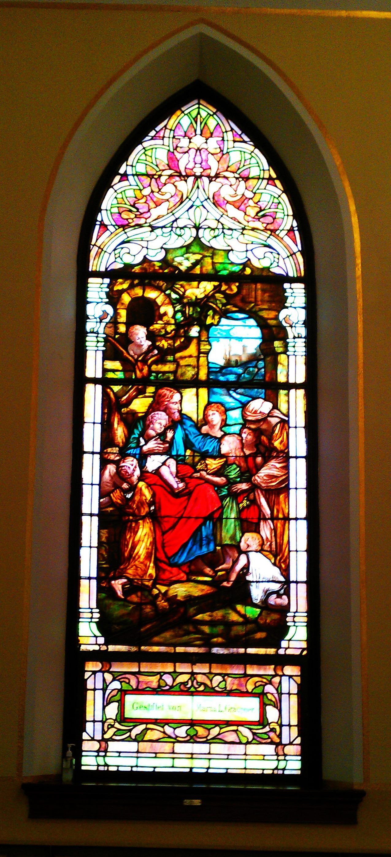 This Is The Oldest Stained Glass Window In Church On Second Floor Outside