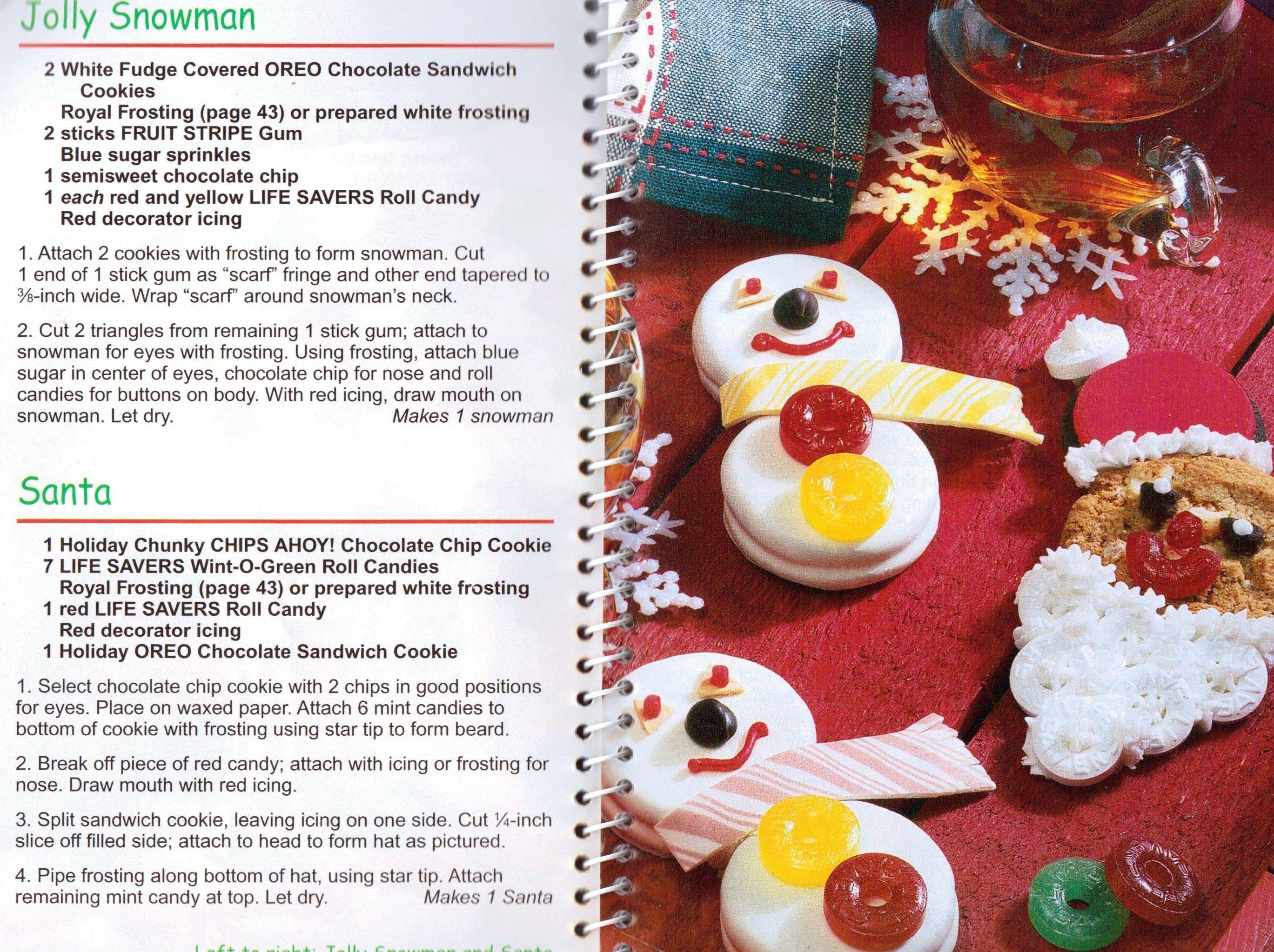 jolly snowman and santa cookies