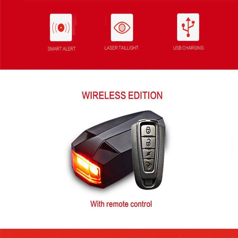 3 In 1 Fahrradalarmanlage Alarmschloss Fahrrad Lampe Ra Cklicht Leuchte Licht Fahrrad Alarmschloss Fahrradalarmanlage Remote Control Ebay Wireless