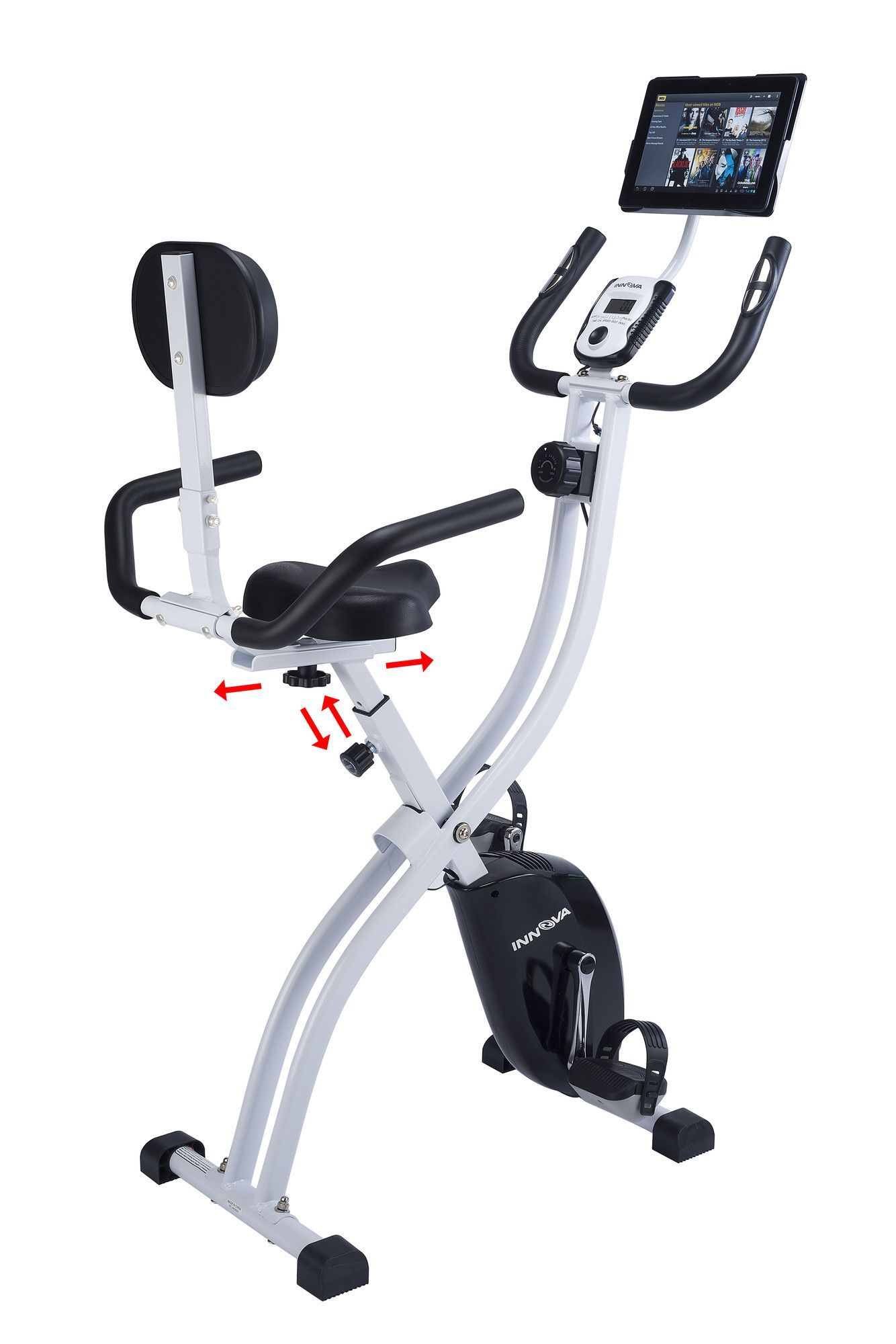 Innova Xbr450 Dual Function Folding Upright Bike With Backrest