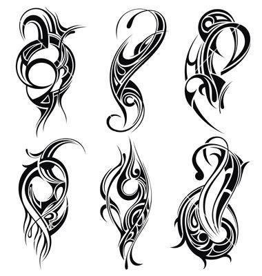 set of tribal tattoo vector tribal trials pinterest tattoo rh pinterest com tattoo vector files tattoo vector free