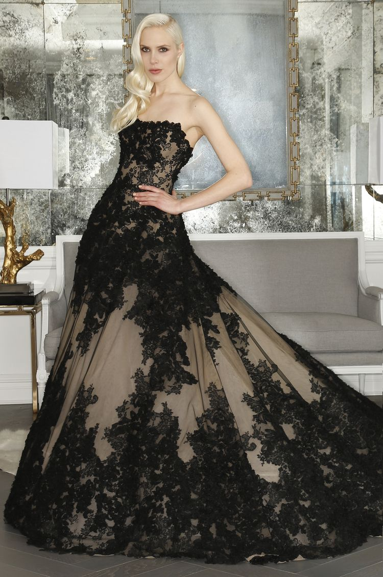 Romona Keveza Lace Evening Dress - Fall 2015 Collection