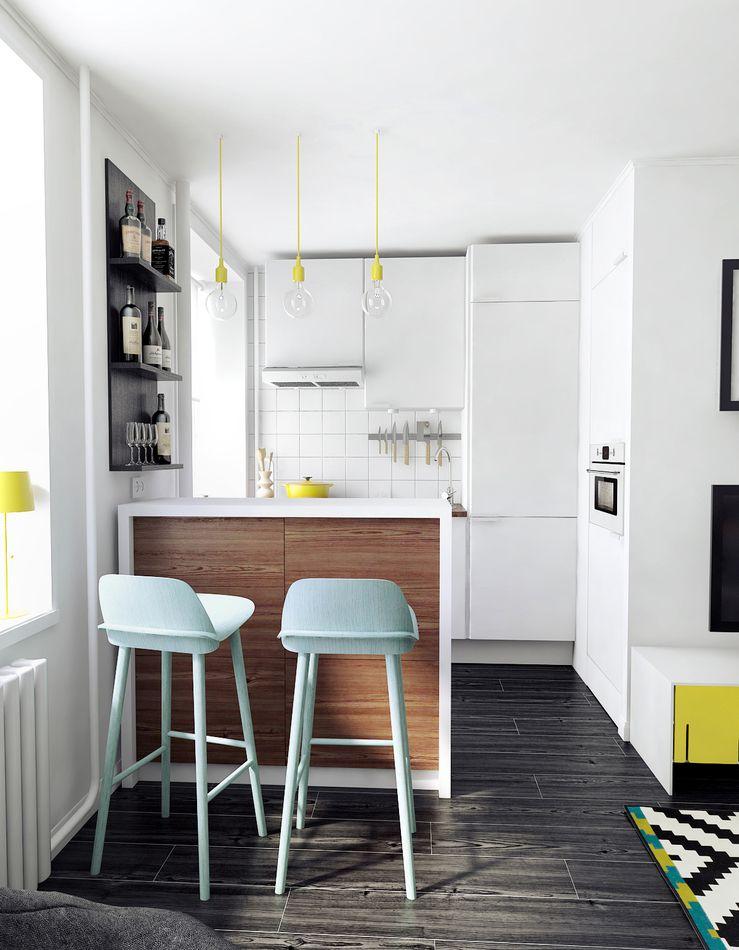 La E27 Sous Toutes Ses Facettes  Small Apartment Kitchen Beauteous Small Kitchen Interior Design Review