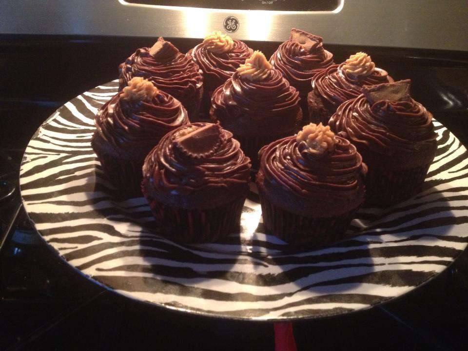 Funny bone cupcakes chocolate cupcakes with a peanut