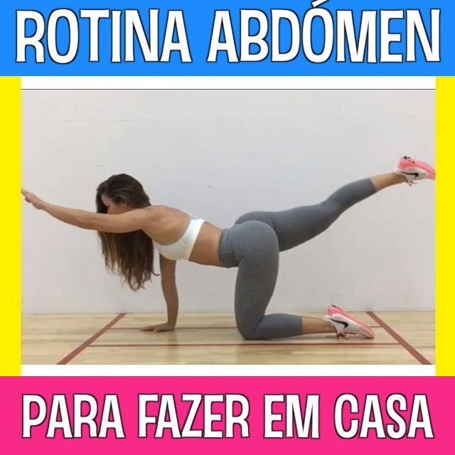 Rotina Abdómen para fazer em casa #fitness #exercicios #treinoemcasa #barrigalisa