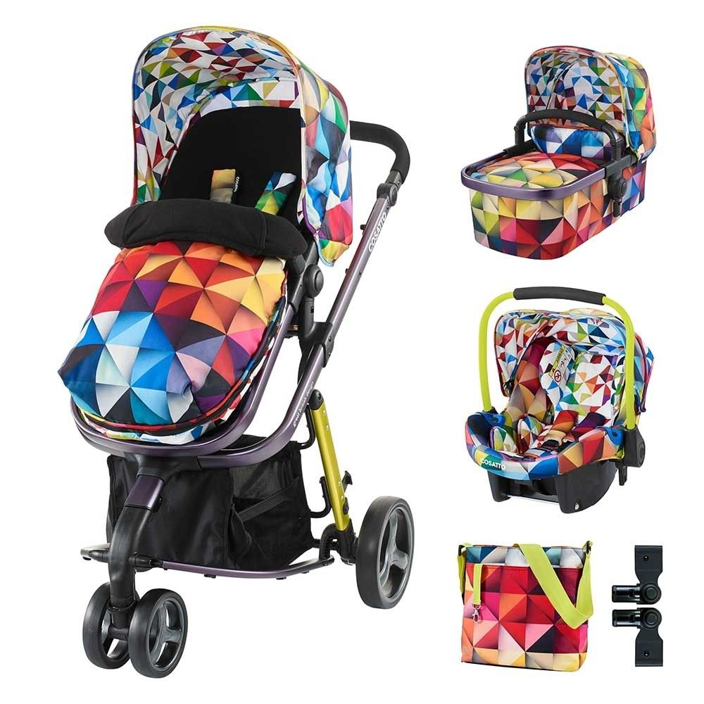 Baby Double Twin Stroller Pram Pushchair Raincover Changing Bag Footmuff Buggy