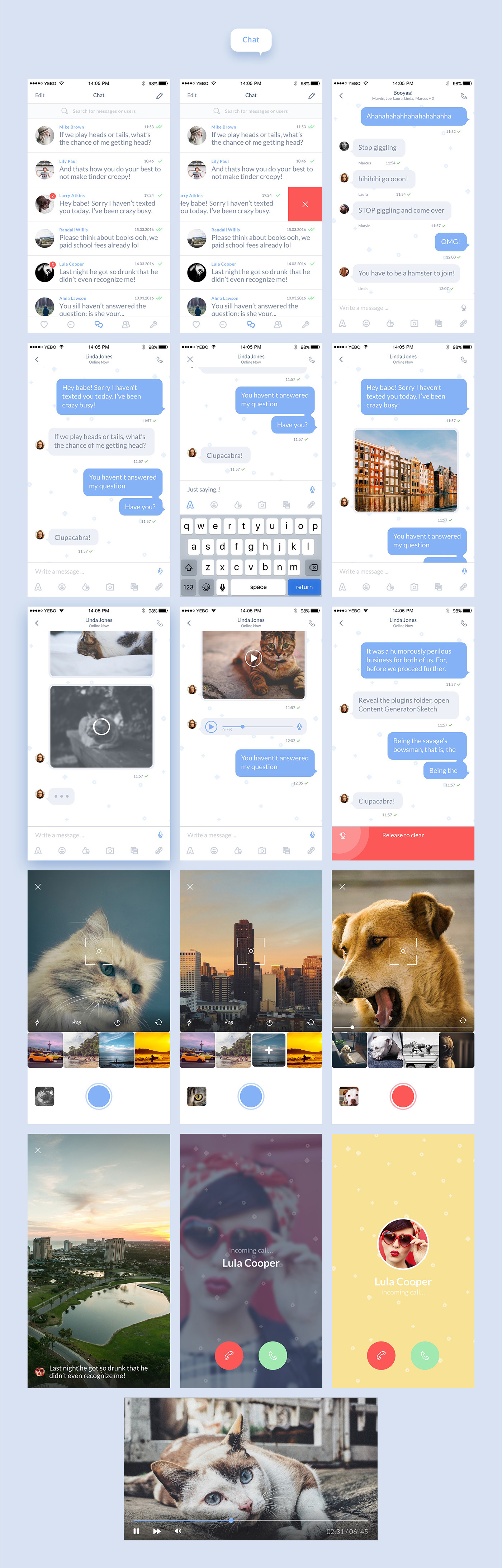 Burble is not just a template, it is the first interactive ready chat UI Kit. With Burble you can have a full chat app in no time. 50+ handcrafted colorful Sketch screens that you can easily link together to have a well designed, functional and fresh demo…