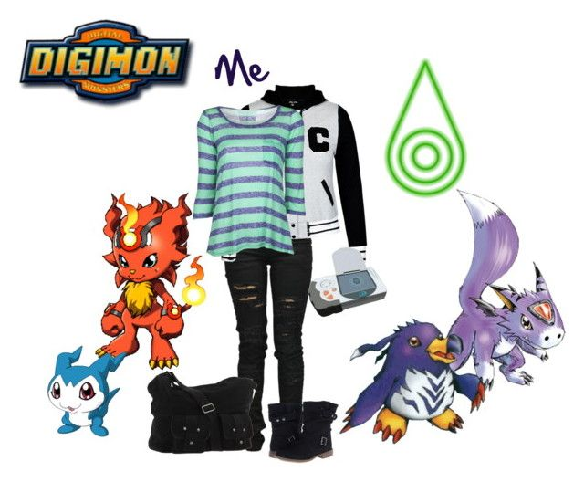 """My Digimon Travel!!"" by fany-812 ❤ liked on Polyvore featuring Denim of Virtue, Splendid, Skechers and Volcom"