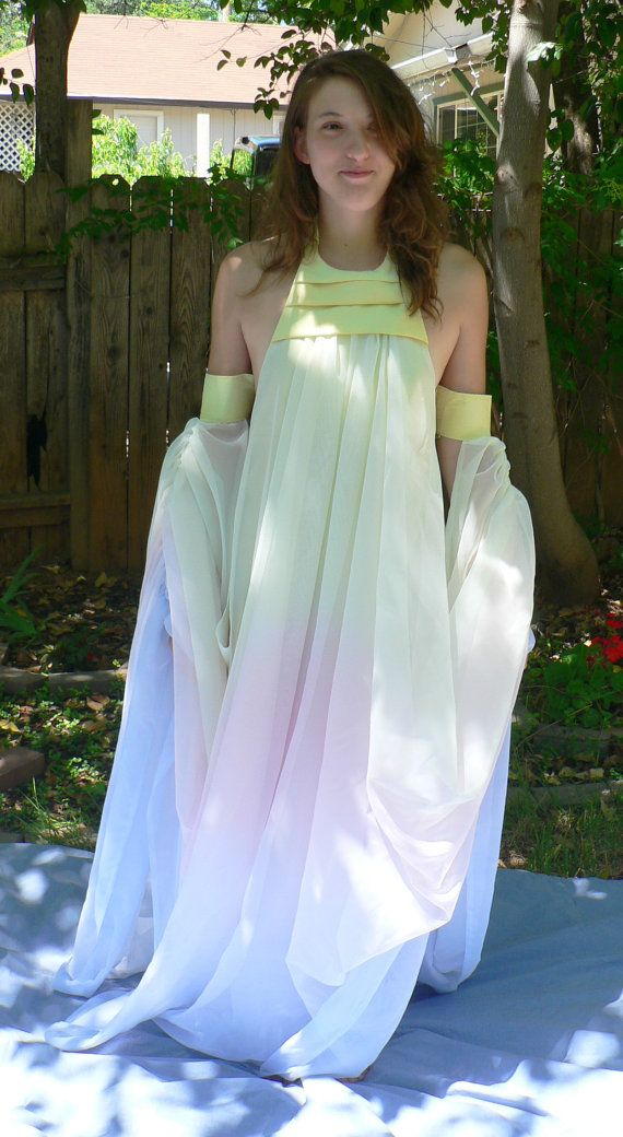 Padme Lake Gown Costume, Cosplay, Star Wars, Episode II, Attack of ...