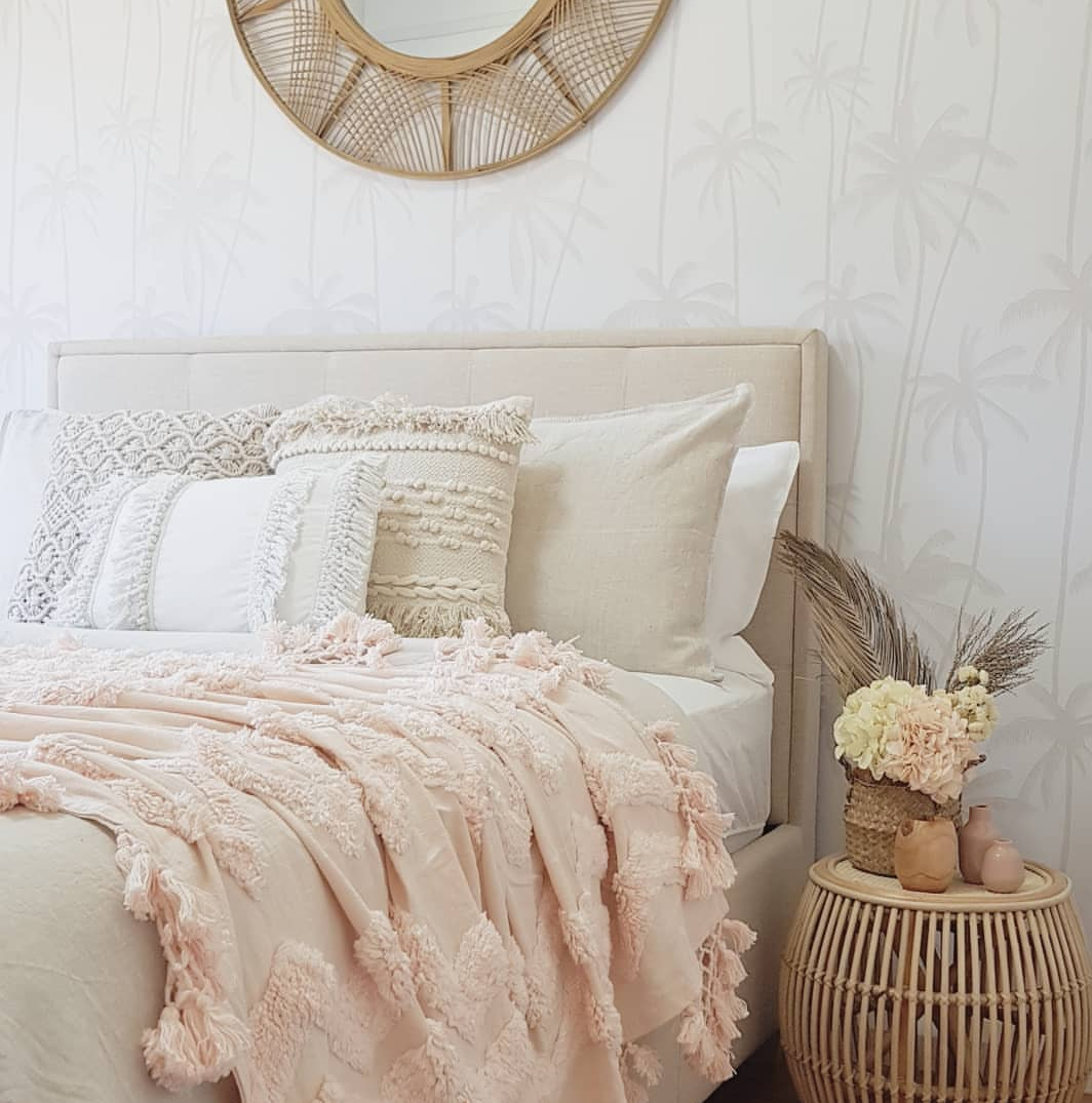 Neutral Palms Premium Removable Wallpaper in 2020