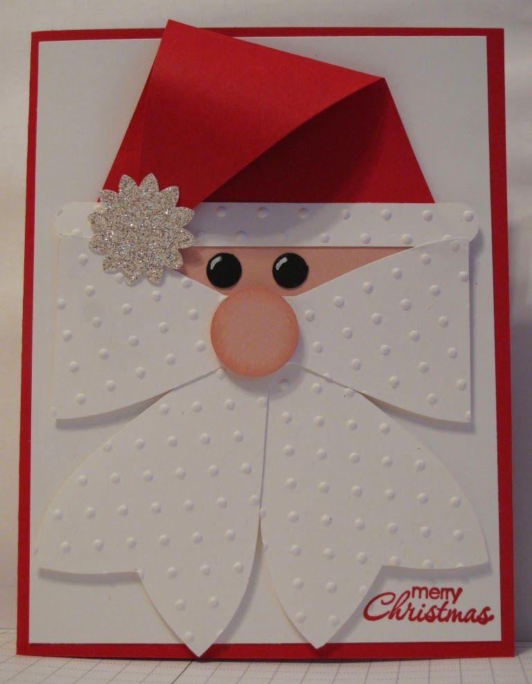 Как сделать открытку деда мороза на новый год
