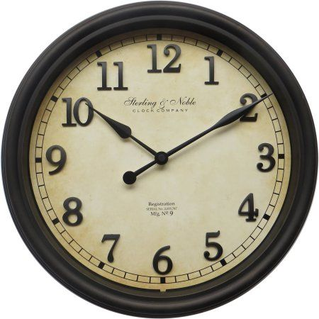 Enigma 10 In Round Wall Clock Silver Walmart Com Traditional Wall Clocks Wall Clock Round Wall Clocks