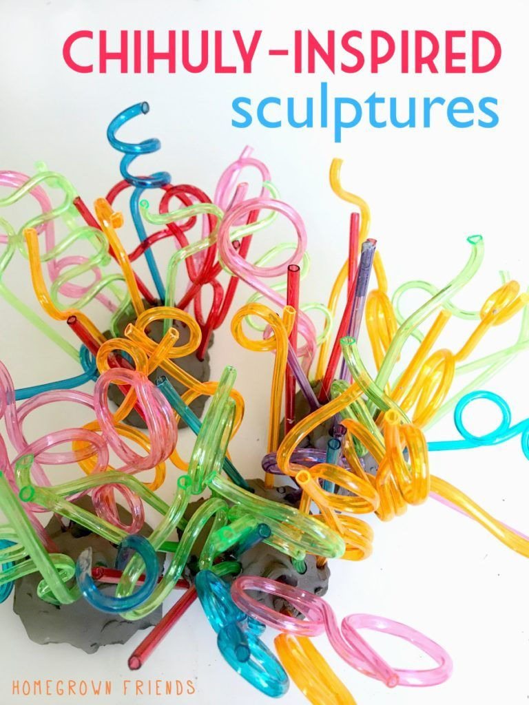 Chihuly Inspired Process Art Sculptures Homegrown