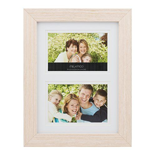 Melannco 2Opening Natural Wood Frame 10Inchby13Inch ** Click image ...