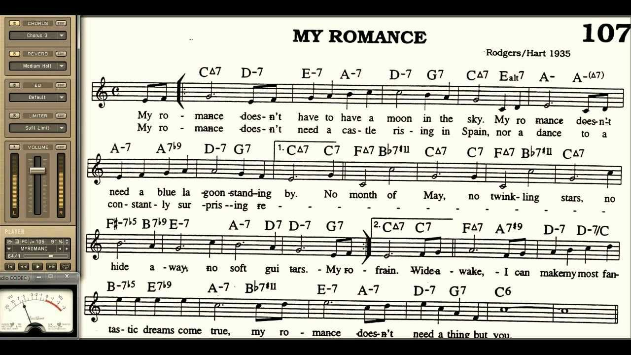 My Romance playalong for Cornet Trumpet Vocal or any Bb instrument with ...