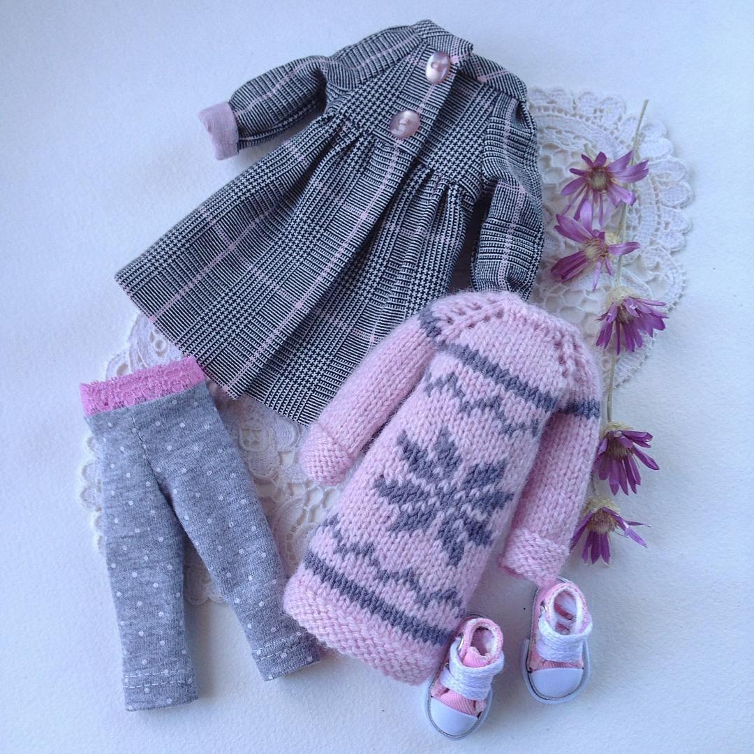 c49cbb5a3c5 Комплект для куклы Блайз  свитер с орнаментом ручной вязки ...