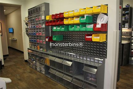 Medical Storage Bins In A Dentistu0027s Office. This Dentist Chose To Use Tip  Out Bins