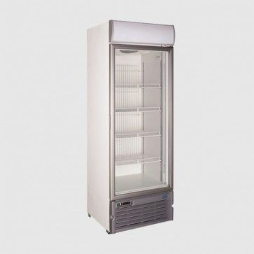 Crystal 400 Ltr Upright Single Glass Door Freezer Gdv400 Glass Door Door Displays Glass Door Fridge
