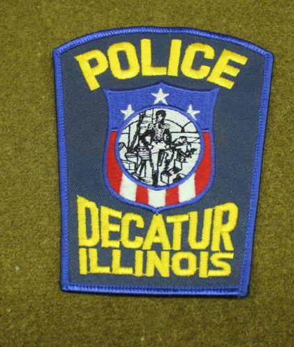 27763 Patch Decatur Illinois Police Department Insignia Sheriff Badge Decatur Decatur Illinois Illinois