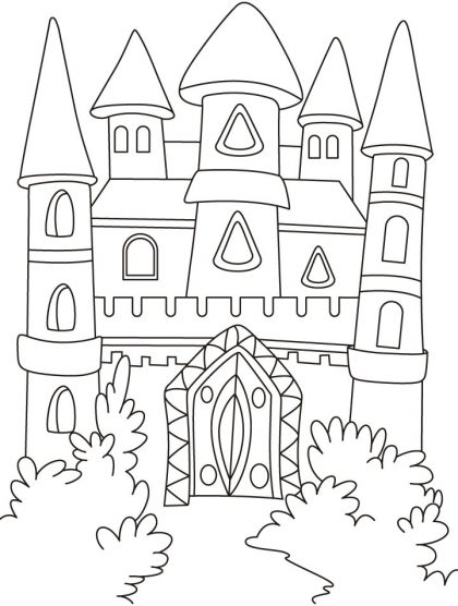 A Magical Castle In The Forest Coloring Pages Download Free A Magical Castle In The