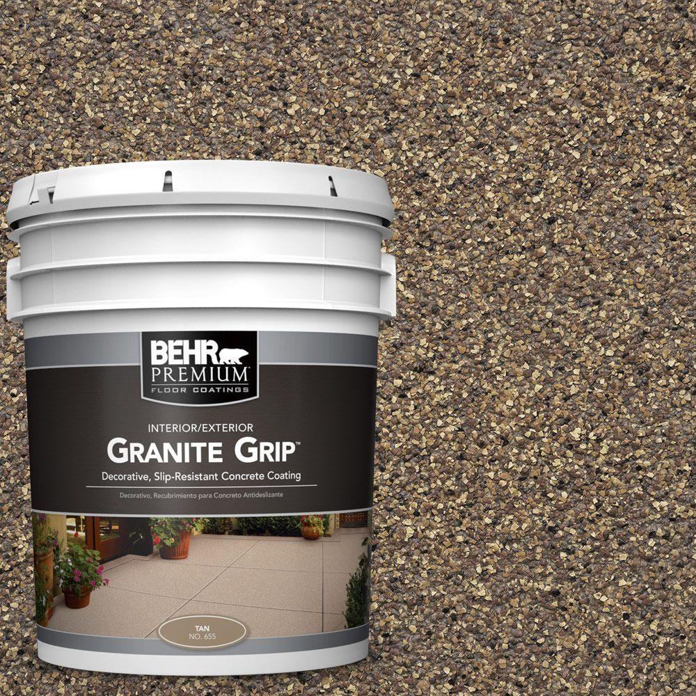 BEHR Premium 5 gal. #GG-14 Autumn Mountain Granite Grip Decorative Concrete Floor Coating
